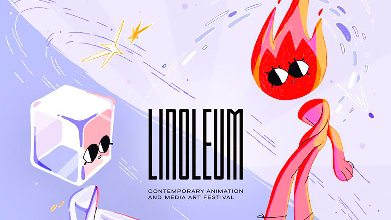 LINOLEUM Animation Festival 2021 presents the official poster by the independent filmmaker and LINOLEUM 2018 winner