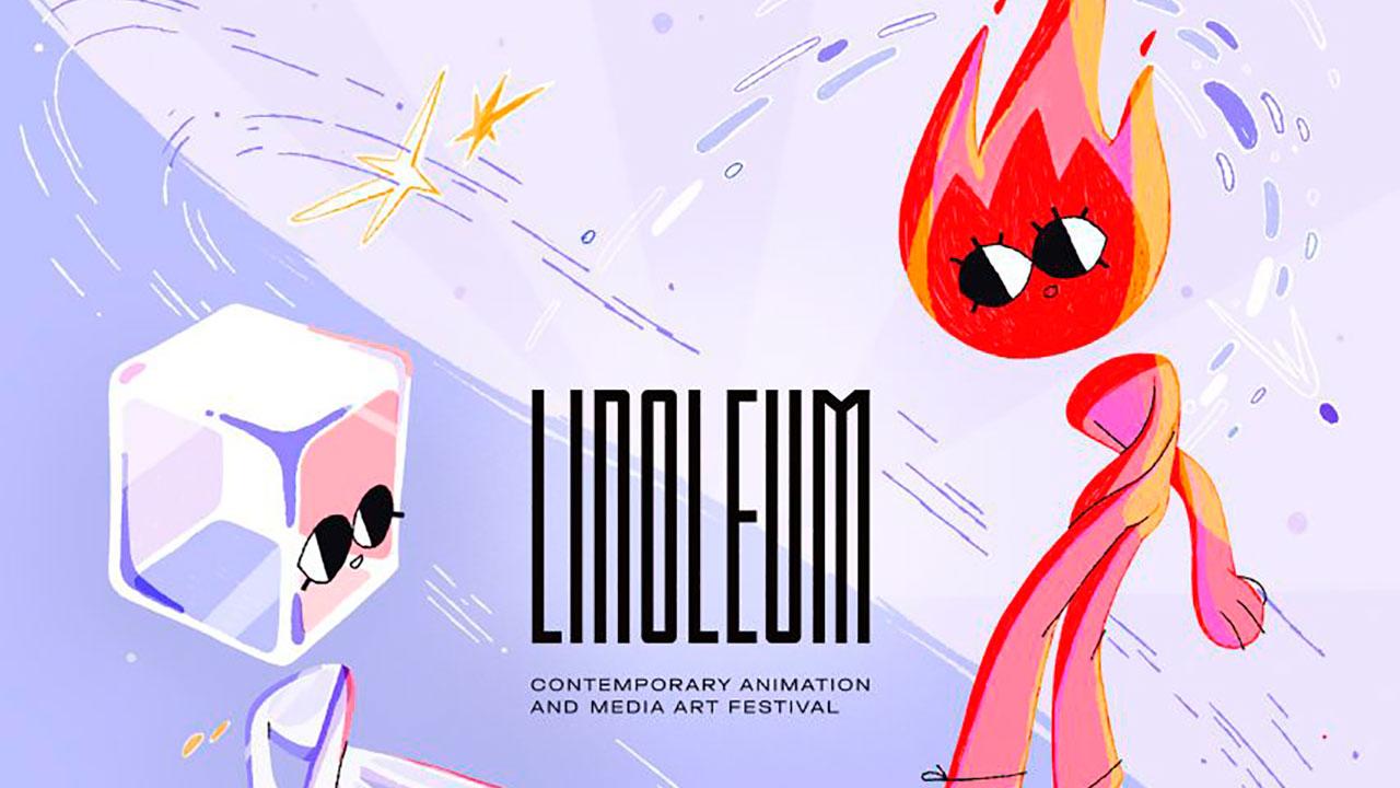 Анимационный фестиваль LINOLEUM 2021 представляет официальный постер от Анны Рыбак