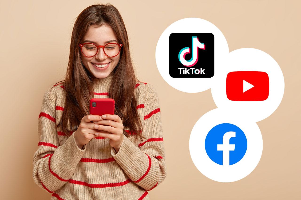 Жители США отказываются от  YouTube и Facebook в пользу TikTok