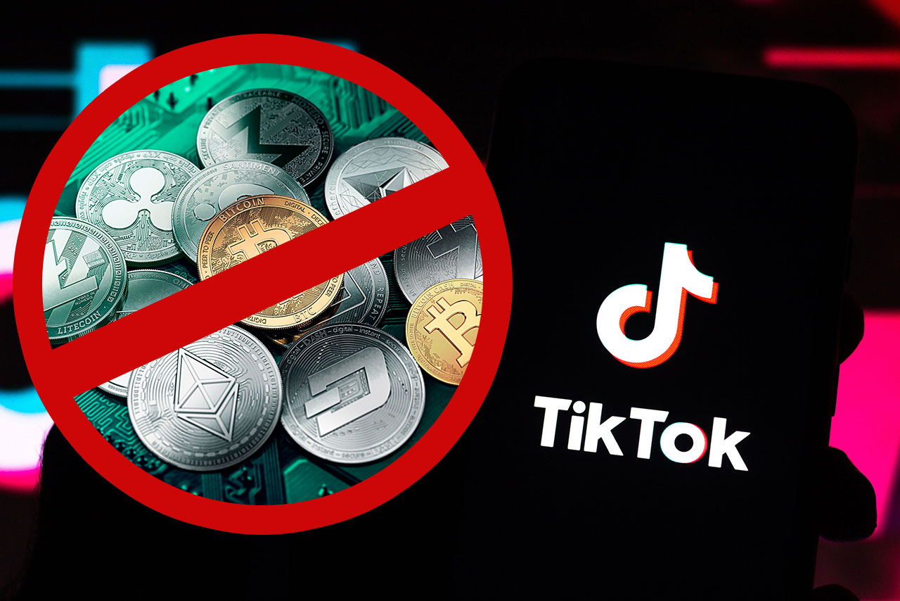 TikTok запретил рекламу криптовалют